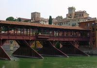 Wooden bridge at Bassano, Italy 2008